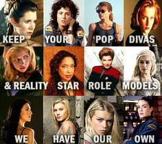 Female Role Models - the type of strong, intelligent & feisty women that girls should be inspired by...