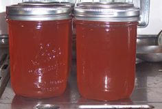 Apple peel and core Jelly. Perfect use for leftover scraps from applesauce making :)