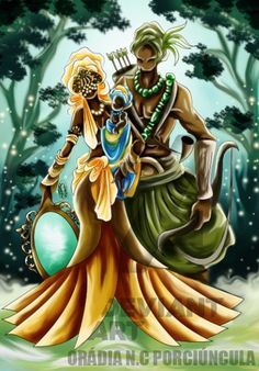Search 'Oxum oxossi e logun' on DeviantArt - Discover The Largest Online Art Gallery and Community Black Love Art, My Black Is Beautiful, African American Artwork, African Art, Yoruba Orishas, African Mythology, Black Artwork, Afro Art, African Diaspora