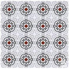 "Found it at Wayfair - Geneva Encaustic 8"" x 8"" Cement Mosaic Tile in Red/Gray"