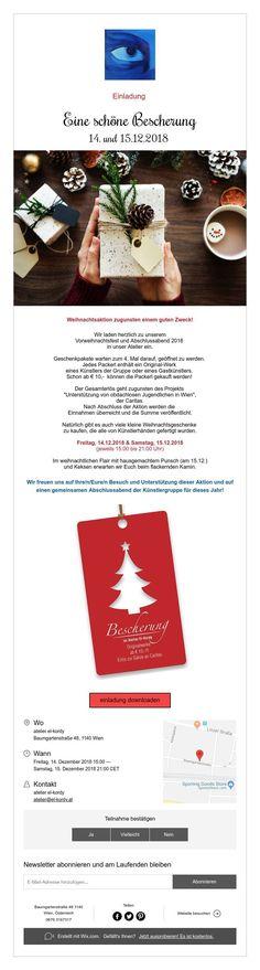"""Einladung """"Eine schöne Bescherung"""" Group, Artist, Small Christmas Gifts, Home Made, Invitations, Christmas, Nice Asses, Amen, Artists"""