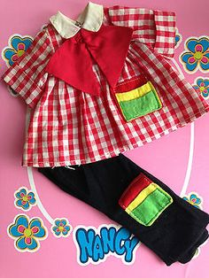 NANCY FAMOSA CONJUNTO PINTORA VARIANTE ROJO AÑOS 70!!! | eBay American Girl, Nancy Doll, Childhood Memories, Doll Clothes, Nostalgia, How To Make, Doll Dresses, Baby Doll Clothes, Clothes For Girls