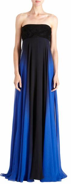 Monique Lhuillier Ombre Strapless Gown at Barneys.com