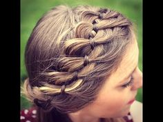 Howt to : 4 Strand Braided Headband | DIY Braids - YouTube