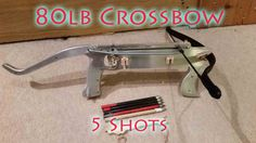 Homemade 80lb Repeating Pistol Crossbow With 5 Bolt Magazine