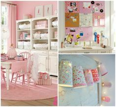Only cute things: Dormitorios para niñas en rosa- Pink girls bedroom.