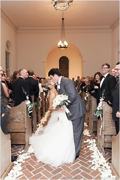 love the romantic petal lined wedding aisle! ~  we ❤ this! moncheribridals.com