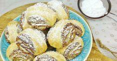 Krehké koláčiky s jemnou orechovou plnkou, ktoré máte hotové raz dva, kedže celková príprava je jednoduchá a rýchla. Plnka nie je ... Pretzel Bites, Gluten Free Recipes, French Toast, Muffin, Food And Drink, Bread, Breakfast, Sweet, Basket