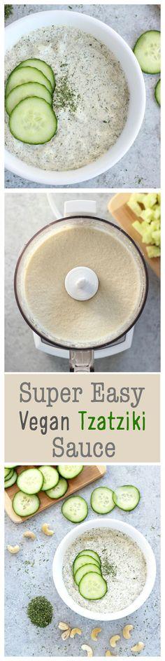 Super Easy #Vegan Tzatziki Sauce
