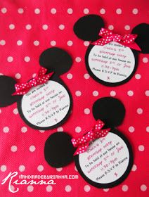 Hand Made By Rianna: Invites: Minnie Mouse Theme Tutorial