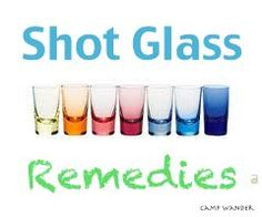 Essential oil remedies in a shot glass: allergy relief, cold & flu bomb, sore throat, mouthwash, toothache, indigestion and appetite suppressant.