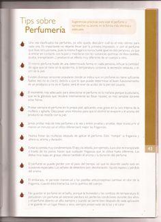 """""""Tips sobre Perfumería."""" En: Manual de Consultoría Natura - 2012 (Natura Cosméticos Oficial: naturalatam)"""