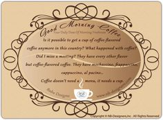 Good Morning Coffee Quotes | Good Morning Coffee - Your Daily Dose of Morning Freshness *~