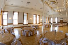 Wedding setup for Provo City Library Ballroom. City Library, Wedding Set Up, Wedding Decorations, Table Decorations, Work Party, Conference Room, Reception, Lights, Decor Ideas