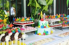 tropical baby shower theme | Aloha Baby Jaxon...can't wait to shower you with surf and sun!