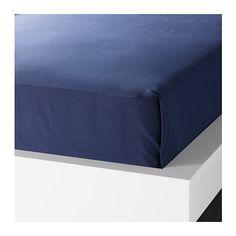 ДВАЛА Простыня IKEA Хлопок – мягкий и приятный на ощупь материал. Подходит для кроватей шириной 80–90 см.