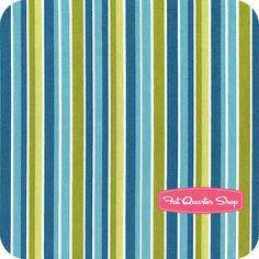Peak Hour Blue Stripes Yardage SKU# C2834-BLUE - Fat Quarter Shop