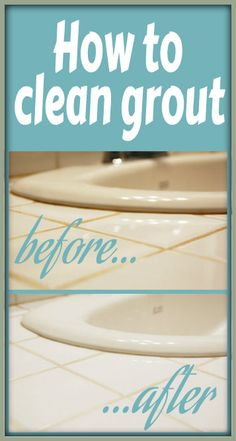 How to Clean Tile Grout, before and after photos by Someday I'll Learn.