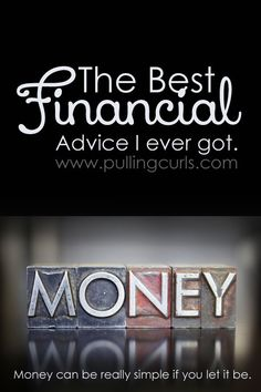 Money isn't complicated. Come find out the best piece of financial advice. It might hurt, but it's the truth. http://stores.ebay.com/nutritionalwellnessstore