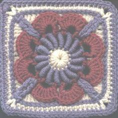 "April Dawn square 6"" .. #inspiration_crochet_diy GB ..."