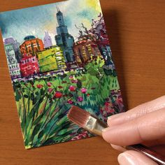 Strathmore Artist Trading Cards How to make an ATC for trading.