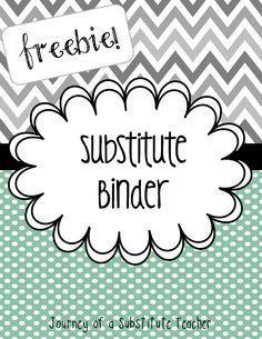 Free editable substitute binder #bts13 #teacher #bts