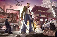 Incroyable jeu vidéo Grand Theft Auto Fan Art par Patrick Brown