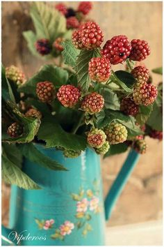 Autumn berry branches in a pitcher