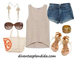 outfit con short jeans