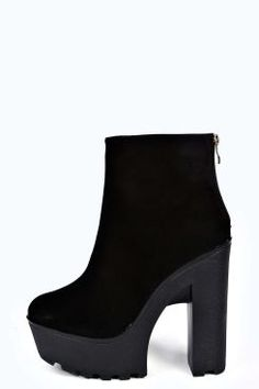 4871553a6654 Ava Mid Heel Cleated Chelsea Boot at boohoo.com