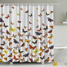 Found it at Wayfair - Butterflies Print Shower Curtain