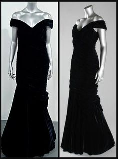 Made of midnight blue velvet, this 1987 Victor Edelstein gown is based  on Edwardian evening designs. The princess famously wore it for a spin on the White House dance floor with John Travolta.