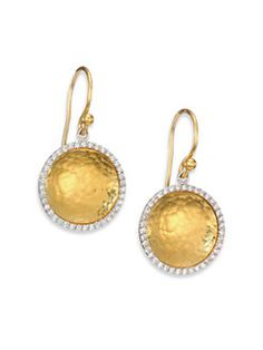 Gurhan Wheat Hoop Drop Earrings TgSvnrt