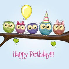 Find Five Owls On Brunch Balloon Bonnets stock images in HD and millions of other royalty-free stock photos, illustrations and vectors in the Shutterstock collection. Thousands of new, high-quality pictures added every day. Happy Birthday Messages, Happy Birthday Images, Happy Birthday Greetings, Birthday Greeting Cards, Birthday Wishes, Watercolor Birthday Cards, Owl Parties, Birthday Clipart, Owl Cartoon