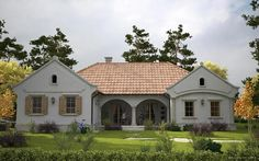 Modern Traditional, Traditional House, Cute House, Facade House, Exterior Design, House Plans, Beautiful Places, New Homes, Cottage