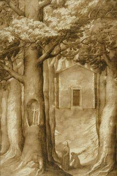 Jacopo Ligozzi - La Verna: The Chapel of the Blessed Giovanni della Verna - art prints and posters