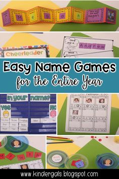 Fun name games your kindergarten students will love! Your kiddos will learn math standards such as graphing, sorting, addition, comparison, and literacy standards such as emergent literacy concepts, syllables, alphabet, and vowels/consonants. Perfect for back to school or year round! Kindergarten Names, Preschool Names, Name Activities, Kindergarten First Day, Back To School Activities, Kids Learning Activities, Kindergarten Classroom, Classroom Activities, Dinosaur Classroom