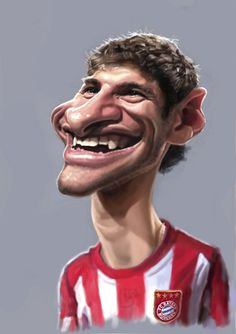 Thomas Müller FC Bayern (medium) Funny Face Drawings, Funny Faces, Cartoon Drawings, Funny Caricatures, Celebrity Caricatures, Neymar Jr, Cartoon Pics, Cartoon Characters, Thomas Muller