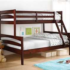 'Providence' Twin-Over-Double Bunk Bed $598.97 For a good night sleep on a school night.