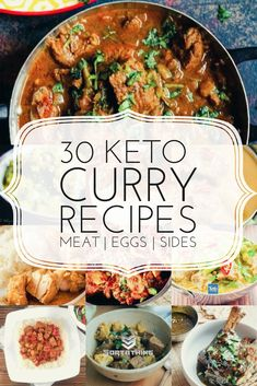 Keto curry recipes that bring a spicy dimension to your low-carb diet. Including richly nutritious egg curry recipes along with keto meat and fish curries plus carb-free Indian bread and rice substitutes. Healthy Food Recipes, Low Carb Dinner Recipes, Diet Recipes, Diet Desserts, Diet Snacks, Diet Meals, Keto Dinner, Keto Indian Food, Eating Clean