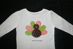 Thanksgiving Turkey Applique Bodysuit or T-Shirt Boy/Girl