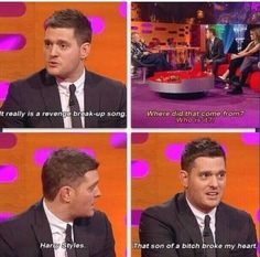 Michael Bublé is a fangirl