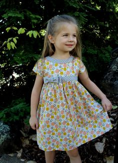 Digital DRESS PATTERN FOR GIRLS--The Lillie Mae Dress    -pattern includes 5 SIZES -TO FIT GIRLS AGES: 2,3,4,5 and 6    -Pattern is delivered by