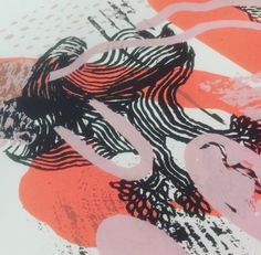 Experimental Zineprinting by a group of 15 Art Academy students, working with me at my studio for their projectweek.
