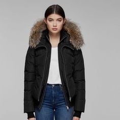 Mackage Winter Jacket with Fur Mackage Jacket, Selling On Poshmark, Winter Jackets, Fur, Stylish, Fitness, How To Wear, Stuff To Buy, Things To Sell