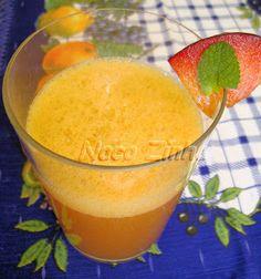 Suco de ameixa fresca com hortelã