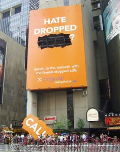 "Guerrilla Marketing - Cingular's ""Hate dropped calls?"" campaign"
