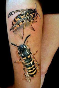 tatuaże damskie 3d na udzie