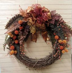 Fall Wreath, Woodland Wreath, Owl Wreath, Wall décor, Front Door Wreath, Every Day Wreath, Door Wreath, House warming Gift, Hostess gift by MnMadeWreathsNThings on Etsy