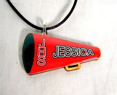 Black Friday still going on Personalized Handmade Cheerleader Necklace by sherrollsdesigns, $10.99